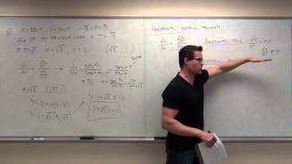 Calculus 2 Lecture 10.3:  Calculus of Parametric Equations