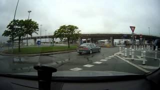 Calais to Dover ferry, arrival + boarding, P&O
