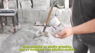 Fabrica ladrillos con plástico reciclado molido