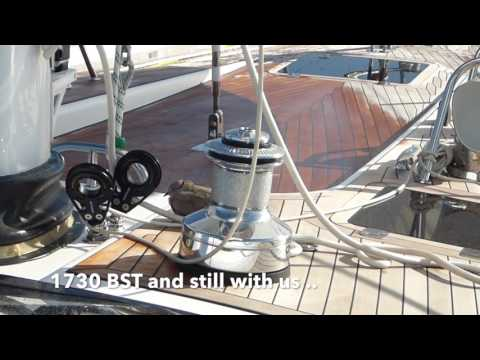 YACHT DELIVERY Oyster 625 Sailing Bay of Biscay Mediterranean UK to Palma Dolphins