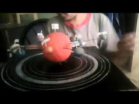 Maqueta De Los 8 Planetas Youtube