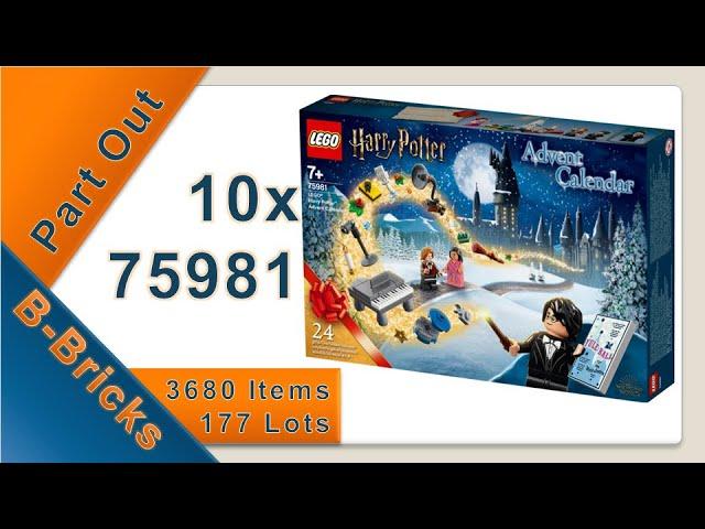 Part Out: LEGO® 75981 - Harry Potter™ Adventskalender 2020