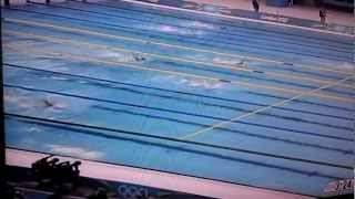 Micheal Phelps loses gold 200 Meter  Butterfly London 2012 Olympics