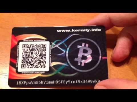 Bitcoin credit card style wallet PVC