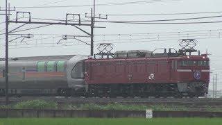 【雨の旅路】団臨 寝台列車カシオペア紀行 東鷲宮~栗橋 2018.6.23