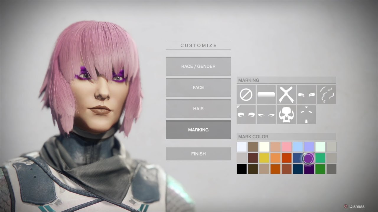 Destiny 2 Character Creation Female Human Hunter 4k Ps4 Pro Vegas Youtube
