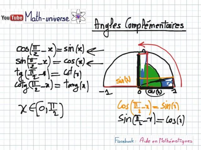 Trigonometrie Partie 4 [ cos(π-x)  cos( π/2 - x )]  | 2eme Année SC / INFO