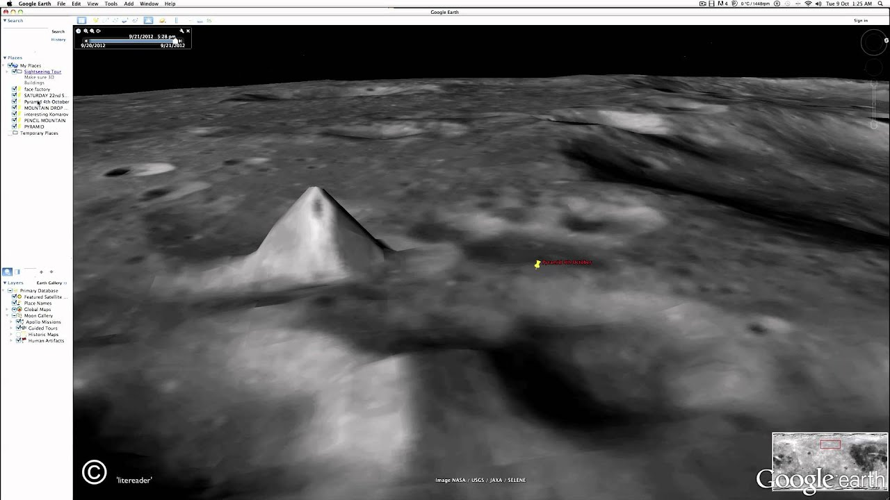 Risultati immagini per Pyramid on the Moon