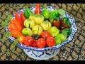 How to Make Thai Kanom Luk Chup (fruit-shaped mung beans) ขนมลูกชุบ