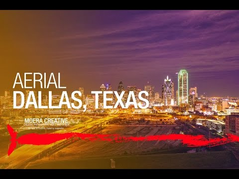 DJI Inspire 1 - Aerial View Of Downtown Dallas, Texas At Night