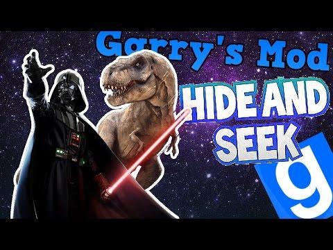 T-REX I DARTH VADER W KOSMOSIE! | Garry's mod (Z Kumplami) #288 - Hide & Seek (#22) /Zagrajmy w