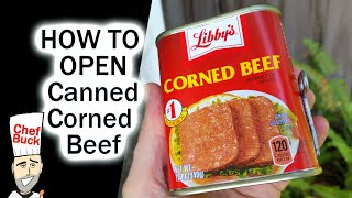 How to Open Canned Corned Beef ...even if the key breaks