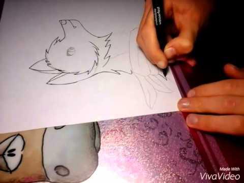 Comment Dessiner Un Loup Facilement Style Manga Youtube