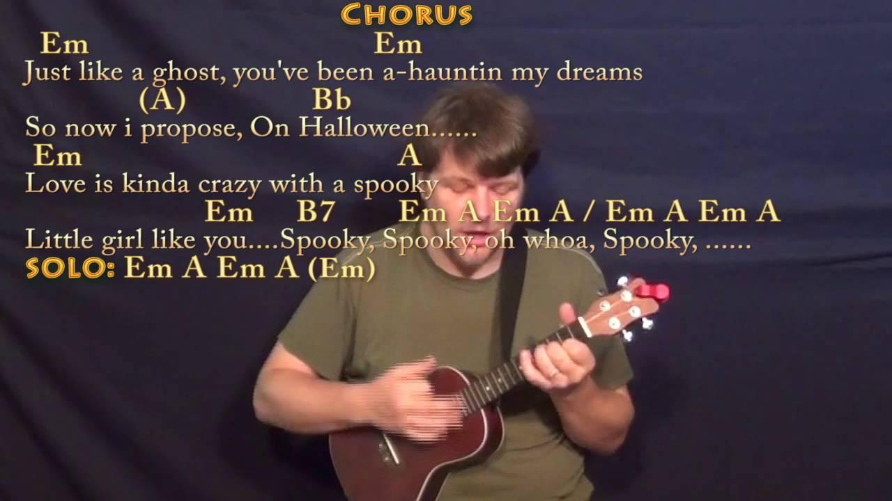 Spooky Halloween Ukulele Cover Lesson In Em With Chordslyrics