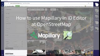 How to use Mapillary in ID editor at OpenStreetMap