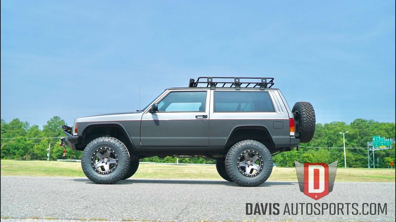 davis autosports custom and restored jeep cherokee xj for sale youtube. Black Bedroom Furniture Sets. Home Design Ideas
