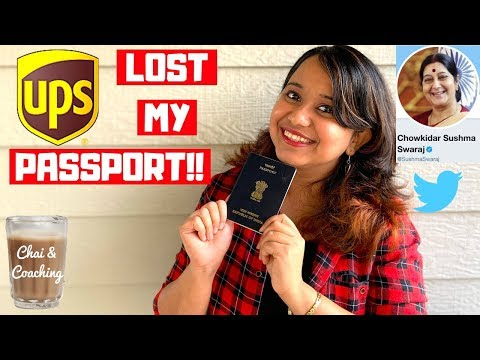 Lost Passport Process International Student | UPS FAILED But Indian Government SAVED ME!