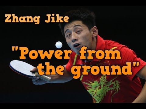 """Power From The Ground"" Chinese table tennis techniques"