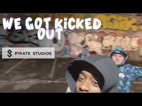 WE GOT KICKED OUT OF PIRATE STUDIOS (VLOG)
