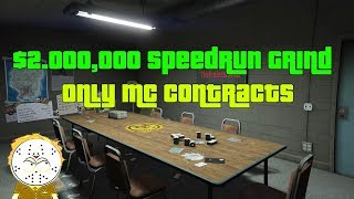 GTA Online $2,000,000 Speedrun Grind, Only MC Contracts