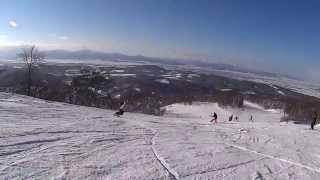 スノーボードカービング Mt.kamoi 山田君の滑り Snowboard Carving