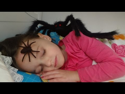 "Spiders Attack Girl In Her Bed ""Annabelle & Victoria"" Toy Freaks"