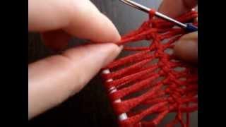 3:29 Вязание на вилке-дуге. Вязание крючком на вилке