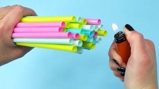 8 DIY Projektów ze Słomkami! 8 Pomysłów co zrobić ze słomek (rurek) do picia / Lifehacki
