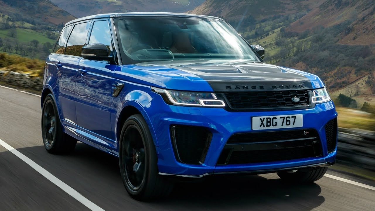 2018 Blue Range Rover Sport Svr Powerful And Dynamic Youtube