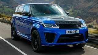 2018 Blue Range Rover Sport SVR - Powerful and Dynamic