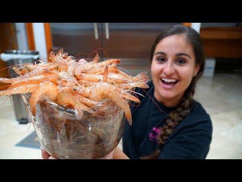 Catching HUNDREDS Of BIG SHRIMP! CATCH CLEAN & COOK Shrimp Kabobs!