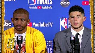 Chris Paul & Devin Booker Postgame Interview - Game 4 - Suns vs Bucks - 2021 NBA Finals