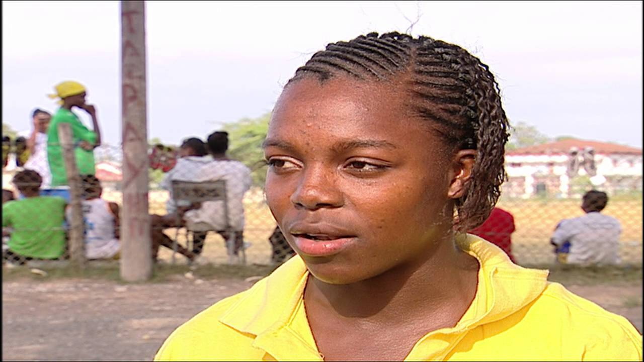 Teenage Veronica Campbell-Brown on Trans World Sport