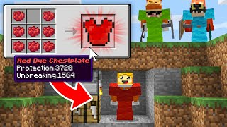 minecraft manhunt but DYE can craft CUSTOM ARMOR