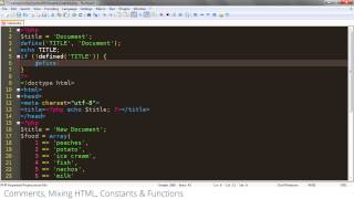 4 - PHP Basics -  Mixing HTML   Constants   Functions
