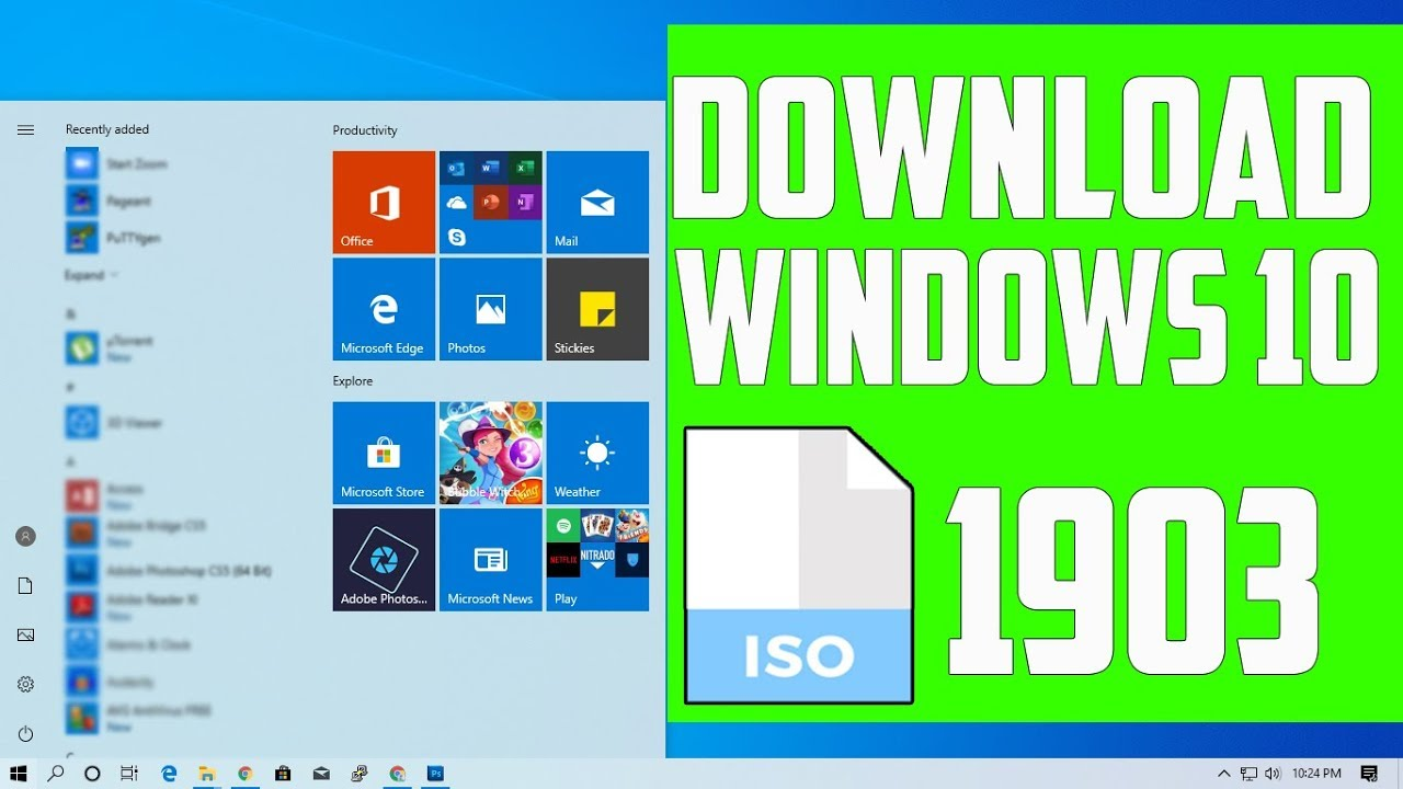 How To Download Windows 10 Version 1903 ISO | Tricknology