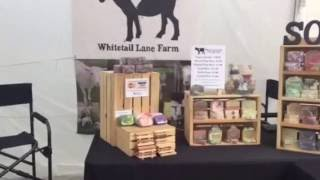 Whitetail Lane Farm Goat Milk Soap Craft Fair Display at A Day in Towne Boalsburg PA