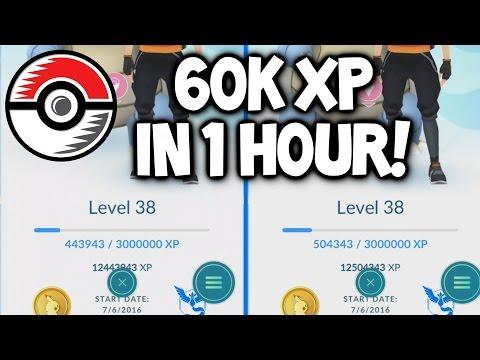 POKEMON GO EXTENDED GAMEPLAY ★ HOW I GOT 60K XP IN 1 HOUR! (NOT PIDGEY EVOLVE) ★ FAST XP IN POKEMON