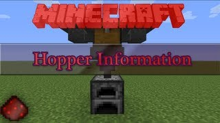 The Minecraft Tinker Box - Hopper Information [13w01a]