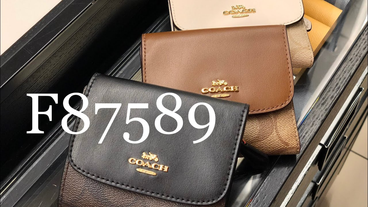 promo code 98e3d b47ce Coach ☜SHOPPING☞ F87589 SMALL WALLET / Brown