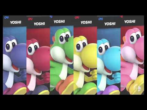 Super Smash Bros Ultimate Amiibo Fights  Request #2619 6 Yoshi Team Battle thumbnail