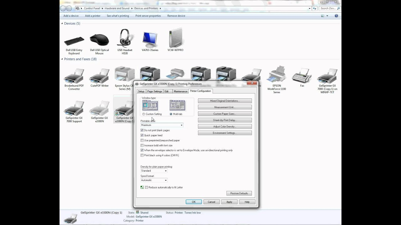 Ricoh Printers on PC: Setting Maximum Printable Area -