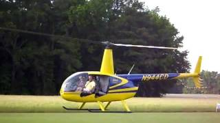 Robinson R44 Crazy Take Off And Auto Rotation At Greenville Funfly