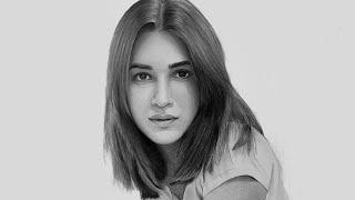 Realistic Portrait Drawing Time-lapse - Kriti Sanon