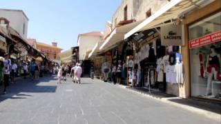 Остров Родос, рынок в старом городе (Греция)(Видео с местного рынка в старом городе., 2011-09-18T20:26:11.000Z)