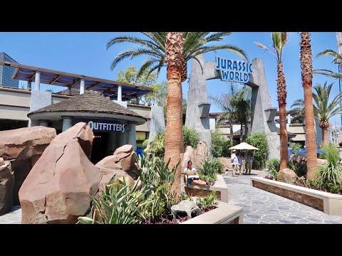 Universal Studios Hollywood Opens Jurassic World Area - NEW Merchandise / Food & Drinks / Walk Thru