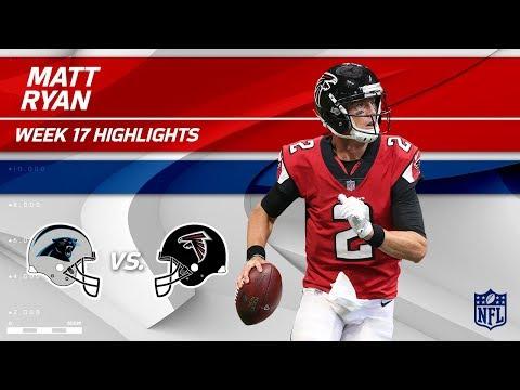 Matt Ryan's 317 Yards & 1 TD vs. Carolina!   Panthers vs. Falcons   Wk 17 Player Highlights