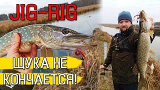 ЗДЕСЬ ЩУКА НЕ КОНЧАЕТСЯ Ловля щуки зимой на спиннинг Рыбалка на щуку 2020 Щука на джиг риг