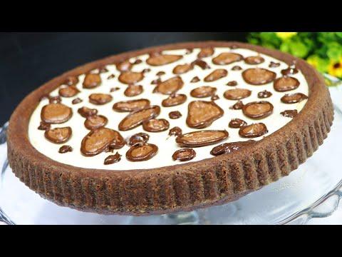 الذ-وأطيب-كيكة-شوكولا-بكريمة-شهية-جدا-وطريقة-سهلة-وسريعة-والطعم-غرااام-راقية-ف-الشكل-كيك-الفهد