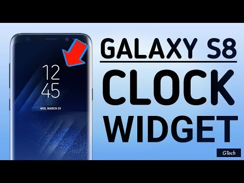 Galaxy S8 Clock Widget For Any Android Device - YT